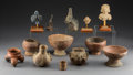 Pre-Columbian:Ceramics, Thirteen Pre-Columbian Items ... (Total: 13 Items)