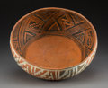 American Indian Art:Pottery, A St. John's Polychrome Bowl Diameter:  12 ½ ...
