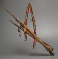 American Indian Art:Pipes, Tools, and Weapons, A Sioux Beaded Hide Bowcase and Quiver with Recurved Bow andArrows. c. 1880... (Total: 2 Items)