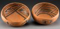 American Indian Art:Pottery, Two Pinedale Black-On-Red Bowls. c. 110 - 1250 AD. ... (Total: 2Items)