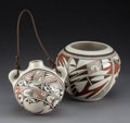 American Indian Art:Pottery, Two Contemporary Hopi Polychrome Vessels. Helen Naha (FeatherWoman) and Grace Navasie-Lomahquahu. ... (Total: 2 Items)