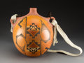 American Indian Art:Pottery, A Large Contemporary Polychrome Canteen. Loren Ami. ...