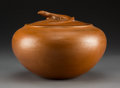 American Indian Art:Pottery, A Contemporary Navajo Lidded Pot. Christine McHorse...