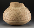 American Indian Art:Pottery, A Hohokam Red-On-Cream Storage Jarc...