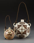 American Indian Art:Pottery, Two Contemporary Southwest CanteensNona Nah...