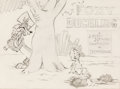 Animation Art:Production Drawing, Foxy Duckling Publicity Drawing Original Art (WarnerBrothers, 1947)....