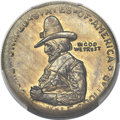 Patterns, 1920 50C Pilgrim Half Dollar, Brass, Pollock-7030, MS65 PCGS Secure....