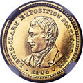 Commemorative Gold, 1904 G$1 Lewis & Clark Gold Dollar, MS64 Prooflike NGC....