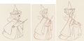 Animation Art:Production Drawing, Sleeping Beauty Three Fairies Animation Drawings Group of 3(Walt Disney, 1959).... (Total: 3 Original Art)