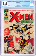 Silver Age (1956-1969):Superhero, X-Men #1 (Marvel, 1963) CGC GD- 1.8 Off-white to white pages....