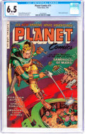 Golden Age (1938-1955):Science Fiction, Planet Comics #71 (Fiction House, 1953) CGC FN+ 6.5 White pages....