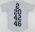 Autographs:Jerseys, Core Four - Jeter, Rivera, Pettitte, Posada - Signed Yankees Jersey.. ...
