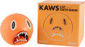 Other, KAWS (American, b. 1974). Cat Teeth Bank (Orange), 2007. Painted cast vinyl. 5 x 5 inches (12.7 x 12.7 cm). Edition of 4...