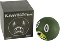 Other, KAWS (American, b. 1974). Cat Teeth Bank (Green), 2007. Painted cast vinyl. 5 x 5 inches (12.7 x 12.7 cm). Edition of 40...