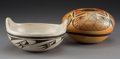 American Indian Art:Pottery, Two Hopi Pottery Vessels. Helen Naha (Feather Woman) and LeahNampeyo ... (Total: 2 Items)