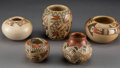 American Indian Art:Pottery, Five Small Hopi Pottery Vessels... (Total: 5 Items)
