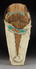 American Indian Art:Beadwork and Quillwork, A Paiute Beaded Hide Cradleboard...