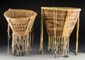 American Indian Art:Baskets, Two Apache Twined Burden Baskets... (Total: 2 Items)