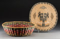 American Indian Art:Baskets, Two Hopi Polychrome Twined Items... (Total: 2 Items)