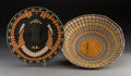 American Indian Art:Baskets, Two Hopi Polychrome Twined Trays... (Total: 2 Items)
