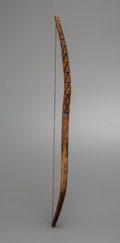 American Indian Art:Wood Sculpture, A Mohave Painted Wood Bow...