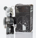 Fine Art - Sculpture, American:Contemporary (1950 to present), KAWS X BE@RBRICK. Dissected Companion 100% (Grey), 2008.Painted cast vinyl. 2-3/4 x 1-1/4 x 1 inches (7.0 x 3.2 x 2.5 c...