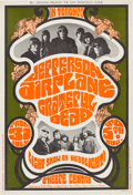 Music Memorabilia:Posters, Grateful Dead/Jefferson Airplane O'Keefe Centre Concert PosterBG-74 First Printing AOR-2.100 (Bill Graham, 1967). ....
