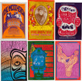 Music Memorabilia:Posters, Grateful Dead/Jefferson Airplane And Others - Group Of Six BillGraham Series Posters (1966).... (Total: 6 Items)