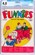 Platinum Age (1897-1937):Miscellaneous, The Funnies #1 (Dell, 1936) CGC VG 4.0 Off-white pages....