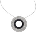 Estate Jewelry:Pendants and Lockets, Diamond, Black Onyx, White Gold Pendant-Necklace, Eli Frei. ...