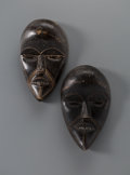 Other, Two Dan Carved Wood Masks... (Total: 2 Items)