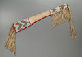American Indian Art:Beadwork and Quillwork, A Sioux Beaded Hide Gun Case. c. 1890. ...