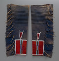 American Indian Art:Beadwork and Quillwork, A Pair of Crow Men's Beaded Cloth Leggings. c. 1900...