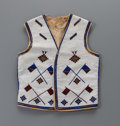 Other, A Blackfoot Beaded Cloth Vest. c. 1900...