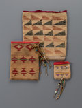 American Indian Art:Beadwork and Quillwork, Three Plateau Cornhusk Bags Lengths:  4 ¾ to ...