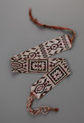 American Indian Art:Beadwork and Quillwork, An Eastern Woodlands Beaded Sash. c. 1850...