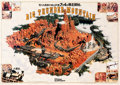 "Animation Art:Poster, ""Big Thunder Mountain"" Tokyo Disneyland Pre-Opening Poster (WaltDisney, 1987)...."