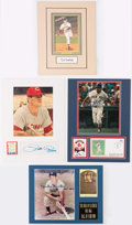 Autographs:Others, Baseball Greats Signed Display Lot of 4.. ...
