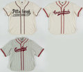 "Baseball Collectibles:Uniforms, Pittsburgh Crawfords Negro League ""Ebbets Field Flannels"" Replica Jerseys Lot of 3. . ..."