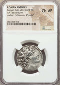 Ancients:Roman Provincial , Ancients: SYRIA. Roman Rule (after 65/4 BC). AR tetradrachm. NGCChoice VF....