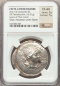 Ancients:Celtic, Ancients: DANUBE REGION. Imitating Macedon under Rome type of'First Meris'. Ca. 2nd-1st centuries BC. AR tetradrachm (16.61 gm).NGC Ch...