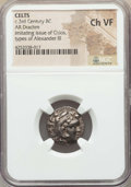 Ancients:Celtic, Ancients: LOWER DANUBE. Imitating Alexander III the Great (336-323BC). AR drachm. NGC Choice VF....
