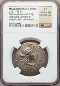 Ancients:Greek, Ancients: MACEDON UNDER ROME. First Meris. Ca. 167-149 BC. ARtetradrachm (16.79 gm). NGC VF 4/5 - 3/5....