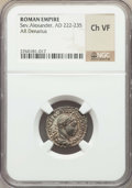 Ancients:Ancient Lots , Ancients: ANCIENT LOTS. Roman Imperial. Ca. AD 209-235. Lot of two(2) AR denarii. NGC Choice VF.... (Total: 2 coins)