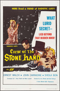 "Curse of the Stone Hand (A.D.P., 1964). One Sheet (27"" X 41""). Horror"