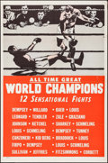 "Movie Posters:Sports, All Time Great World Champions (Late 1940s). Boxing One Sheet (27""X 41""). Sports.. ..."