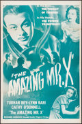 """Movie Posters:Fantasy, The Spiritualist (Eagle Lion, R-1950s). One Sheet (27"""" X 41"""") Reissue Title: The Amazing Mr. X. Fantasy.. ..."""