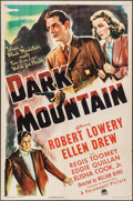 "Movie Posters:Crime, Dark Mountain (Paramount, 1944). One Sheet (27"" X 41""). Crime.. ..."