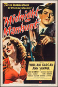 "Movie Posters:Mystery, Midnight Manhunt (Paramount, 1945). One Sheet (27"" X 41"").Mystery.. ..."