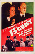 "Movie Posters:Mystery, The Mystery of the 13th Guest (Monogram, 1943). One Sheet (27"" X41""). Mystery.. ..."